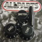 Knob Set for Fender Strat  Black   PK-0178-023
